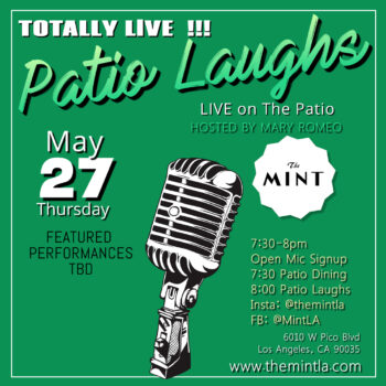 Patio Laughs – Live Comedy with Open Mic